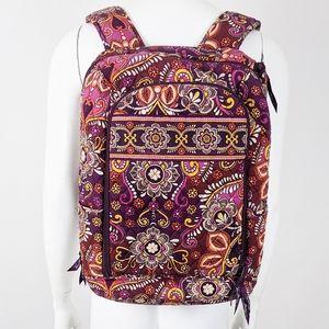 Vera Bradley Laptop Backpack Safari Sunset Purple